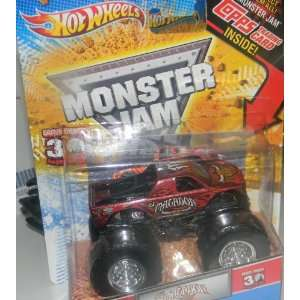 Wheels Monster Jam Truck 164 El Matador with Topps Trading Card 2012