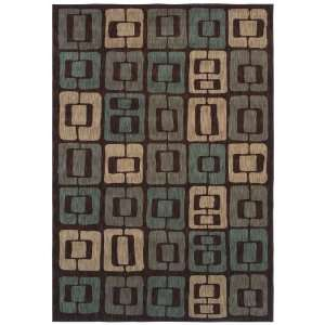 Angela Adams Munjoy Dark Brown Rectangle 1.90 x 2.90 Area Rug Home