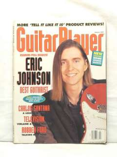 GUITAR PLAYER MAGAZINE ERIC JOHNSON CARLOS SANTANA ROBBEN FORD HOME