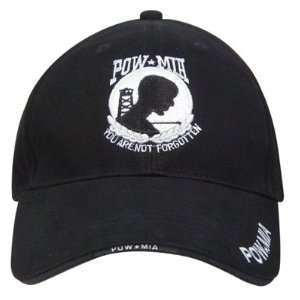 POW / MIA Black Deluxe Low Profile Baseball Cap