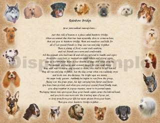 Personalized Dog Memorial Rainbow Bridge Poem Loss Of Pet Animal