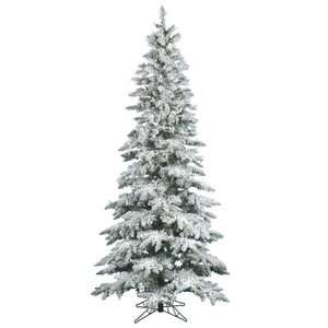 Flocked Utica Slim Pre lit Christmas Tree Christmas Decor