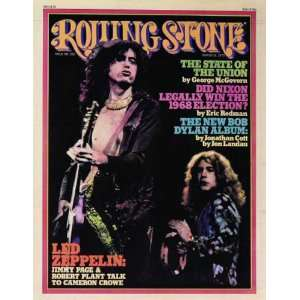 Rolling Stone Cover of Jimmy Page & Robert Plant by Neal Preston . Art