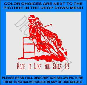 HORSES, BARREL RACING, GOT, EQUINE, DECAL 2119RI