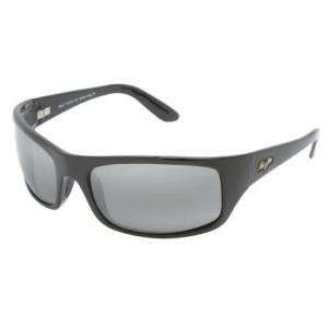 Maui Jim Peahi Sunglasses Gloss Black/Neutral Gray 202 02
