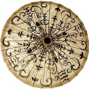 32 Inch Painted Paper Umbrella (henna design)