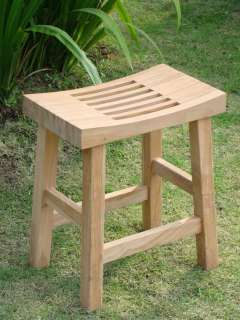 Curved Seat Shower Bath Spa Stool Bench Outdoor Garden Patio
