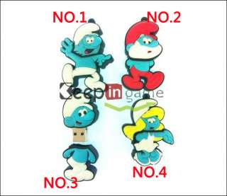 4GB Cartoon Smurfs Pattern USB 2.0 Flash Memory Drive Stick Pen 4 GB